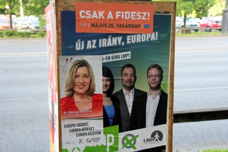 Választási plakátok a 2014-es országgyűlési választásokon (Fotó: Mészáros Márton)