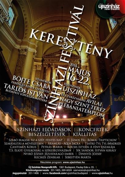 A Keresztény Színházi Fesztivál plakátja