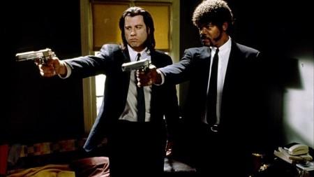 John Travolta és Samuel L. Jackson a Ponyvaregény című film egyik jelenetében