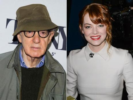 Woody Allen Oscar-díjas amerikai színész-rendező és Emma Stone amerikai színésznő