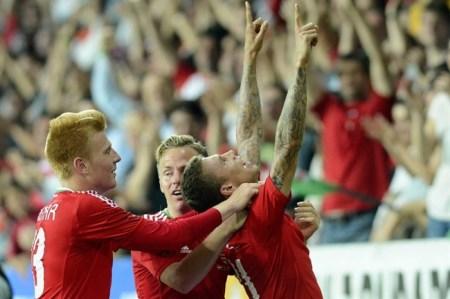 Magyarország-Dánia barátságos labdarúgó-mérkőzés a debreceni Nagyerdei Stadionban 2014. május 22-én
