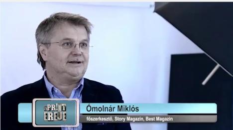 Ómolnár Miklós, a Story és a Best magazin volt főszerkesztője