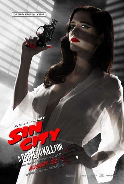 Eva Green francia színésznő a Sin City: Ölni tudnál című film plakátján