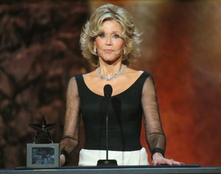 Jane Fonda amerikai színésznő átveszi az Amerikai Filmintézet (AFI) életműdíját Hollywoodban 2014. június 5-én