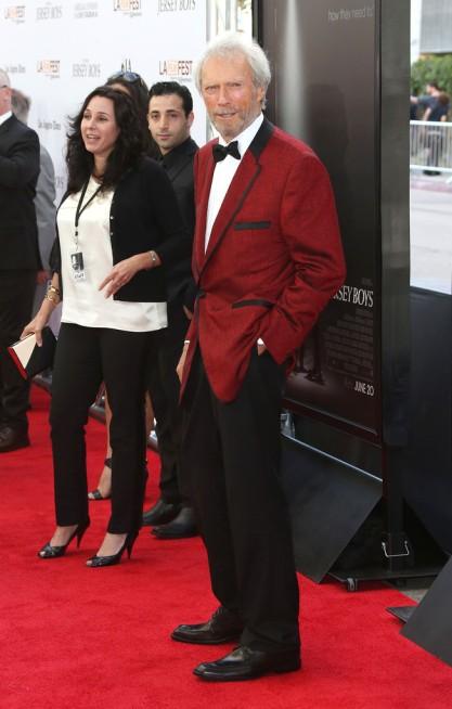 Clint Eastwood többszörös Oscar-díjas amerikai színész-rendező a Jersey Boys című filmje bemutatóján Los Angelesben 2014. június 19-én
