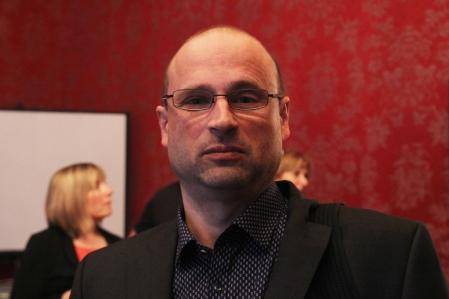 Csabai László író a Petőfi Irodalmi Múzeumban 2014. március 28-án (Fotó: Mészáros Márton)