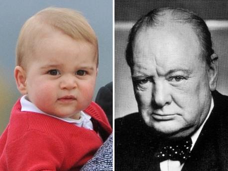 György brit királyi herceg és Winston Churchill néhai brit kormányfő