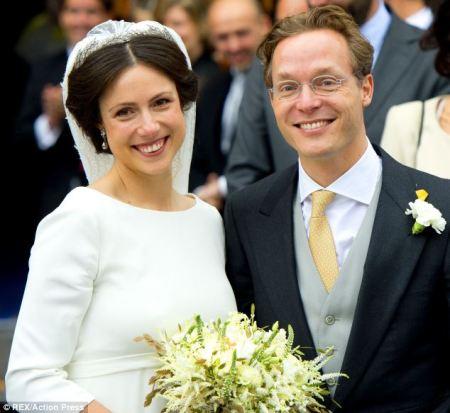 Jaime holland herceg és felesége, Viktória esküvőjükön