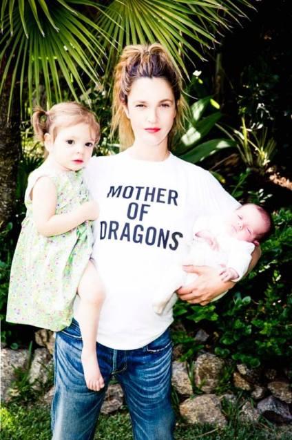 Két gyermekével, Olive-val és Frankie-val