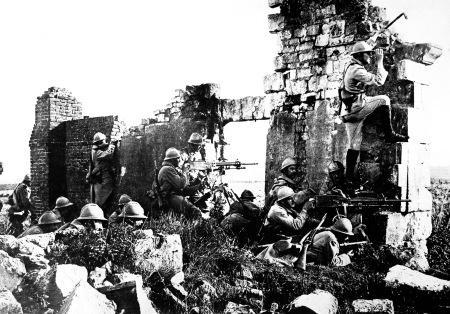 Francia katonák az első világháború utolsó évében, 1918-ban
