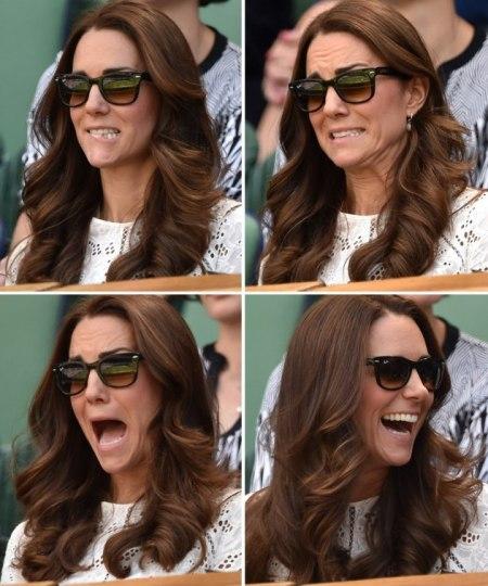 Katalin hercegnő arcai Wimbledonban