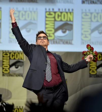 Robert Downey Jr. amerikai színész a Comic Con fesztiválon 2014 júliusában