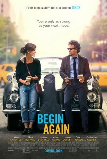 A Szerelemre hangszerelve (Begin Again) című film eredeti nyelvű posztere