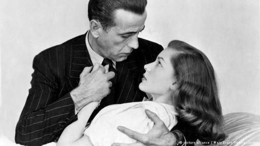 Humphrey Bogart amerikai színész és későbbi felesége, Lauren Bacall amerikai színésznő