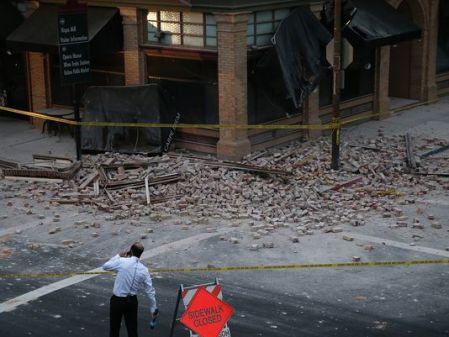 A 6,1-es erősségű földrengés nyoma Kalifornia államban 2014. augusztus 24-én (Getty Images)