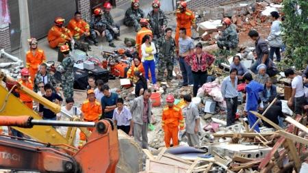 Mentés a Kína Jünnan tartományában 2014. augusztus 4-én