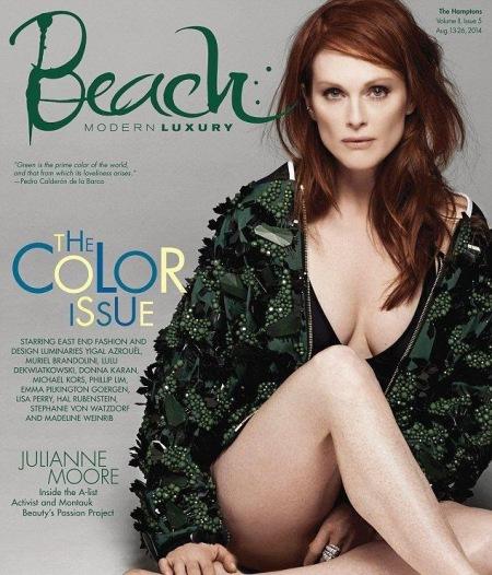 Julianne Moore amerikai színésznő a Beach magazin 2014. augusztusi címlapján