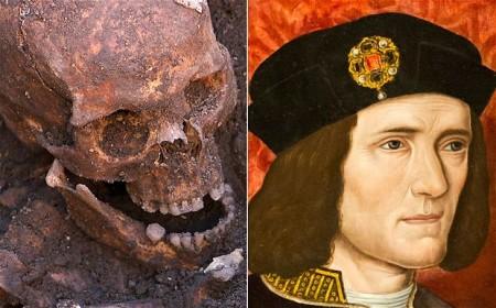 A 15. században élt III. Richárd király koponyája és portréja
