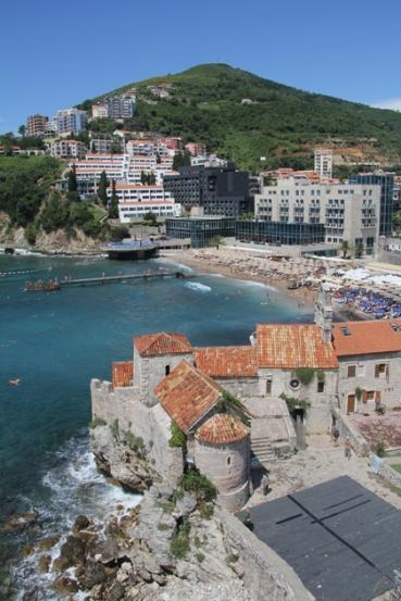 Ókori városrészlet a montenegrói Budvában 2014. július 30-án (Fotó: Mészáros Márton)