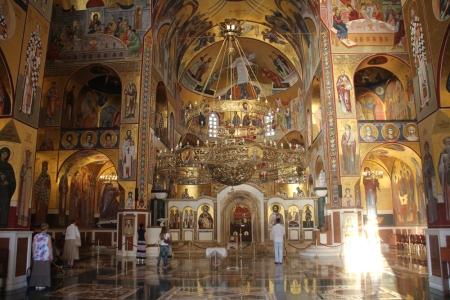 A Krisztus feltámadása székesegyház a montenegrói Podgoricában 2014. augusztus 1-jén (Fotó: Mészáros Márton)