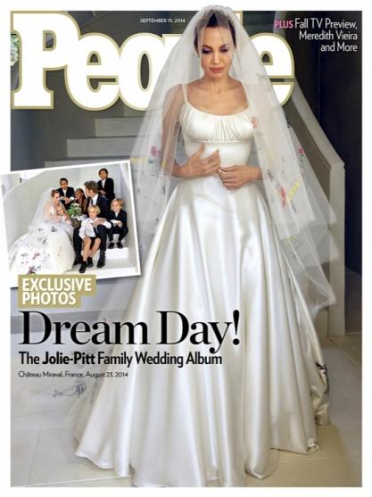 Angelina Jolie esküvői képe a People magazin címlapján