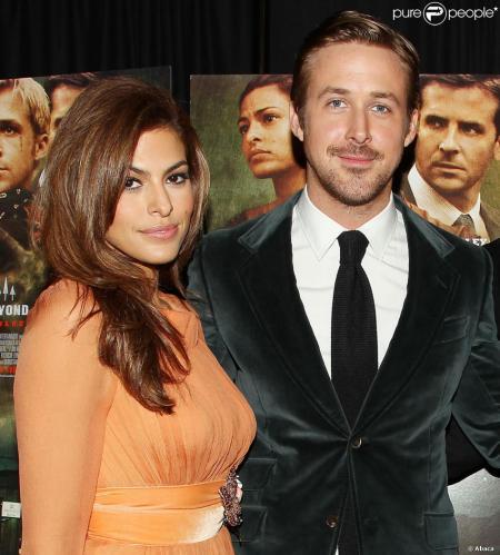 Eva Mendes amerikai színésznő és párja, Ryan Gosling kanadai színész
