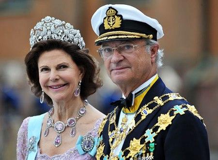 XVI. Károly Gusztáv svéd király és felesége, Szilvia királyné