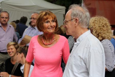 Lendvai Ildikó, az MSZP korábbi elnöke a Pozsonyi Piknik rendezvényen a budapesti Pozsonyi úton 2014. szeptember 6-án (Fotó: Mészáros Márton)