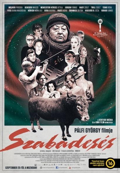 A Szabadesés című film plakátja