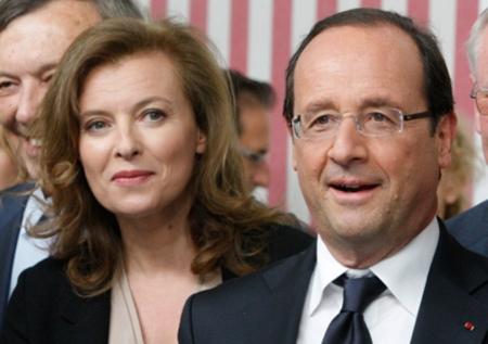 Franois Hollande francia elnök és volt élettársa, Valerie Trierweiler