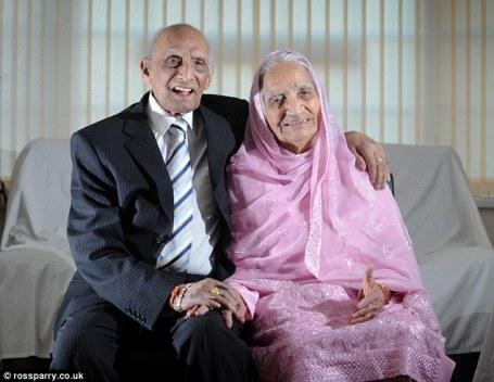 Karam és Kartari Chand, a világ legrégebben házasságban élő párja