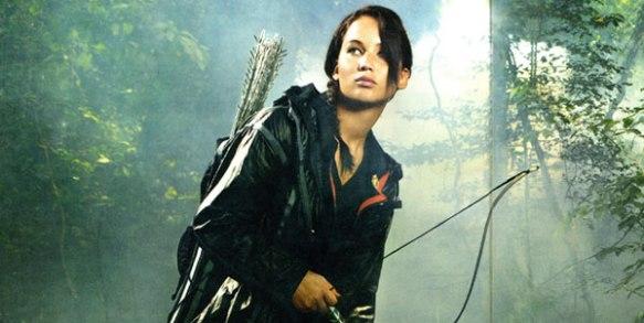 Jennifer Lawrence Az éhezők viadala című film egyik jelenetében