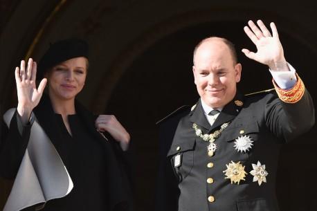 II. Albert monacói herceg és felesége, Charlene hercegnő